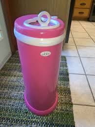 Ubbi Steel Diaper Pail Light Pink Sold Out Ubbi Hot Pink Steel Diaper Pail Baby Girl Nursery Nappy Disposal Htf