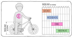 Child Bike Size Chart Cleary Bikes Size Guide Ready Set Pedal