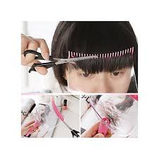diy hair bangs fringe cut comb clip portable trimmer hairstyle typing trim tool
