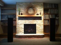 mendota direct vent fireplace dxv35 custom book shelves built by wendt wood working radius rock face