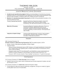 Sample Resume For An Entry Level Manufacturing Engineer Monste Sevte
