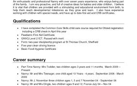 Babysitter Job Description Resume Nanny Resume Template Part Time