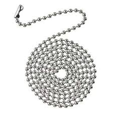 chrome beaded chain with connector