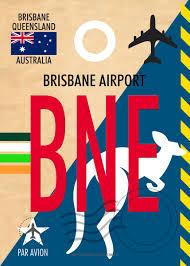 BRISBANE AIRPORT CODE BNE' Metal Poster ...