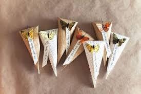 paper cones wedding. butterfly wedding cones paper