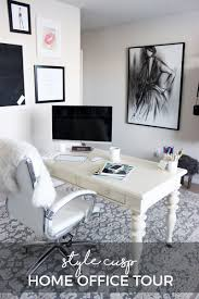 Neutral office decor Female Stylecusphomeofficetourhavenlydecordesign Style Cusp Home Office Tour Style Cusp