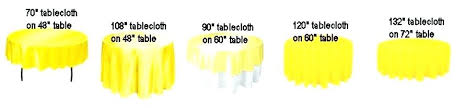what size overlay for a 60 round table tablecloth burlap fits inch