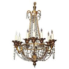 round wood and metal chandelier with crystal beads and eight lights inspiring style