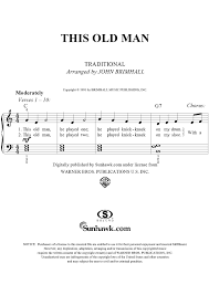 this old man piano sheet music this old man sheet music music for piano and more sheetmusicnow com