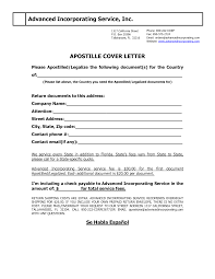 Cover Letter Design Apostille Cover Letter Sample For Applicant