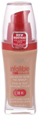 l oreal paris infallible advanced never fail 18h foundation 606 natural buff 30ml