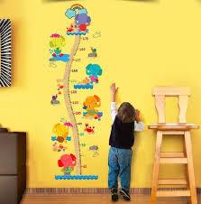 Kids Growth Chart Elephant Height Measurement Wall Sticker