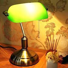 classic green desk lamp bankers table post shade