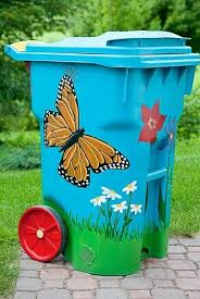 painted compost bin
