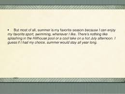 summer is my favorite season essay summer is my favorite season  why summer is my favorite season of the year essay definition why summer is my favorite