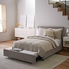 Modern Bedroom Furniture Chicago Best Contemporary Upholstered Storage Bed West Elm