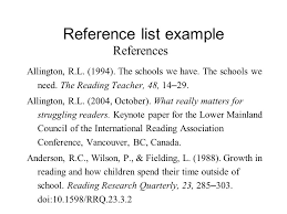sample reference list sample reference list template downlaod sample reference list for research paper in text citation in main