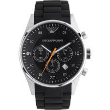 mens armani watches from ticwatches co uk emporio now on classic black mens chronograph watch ar5858