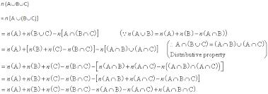 A U B U C Venn Diagram Q For Any Three Sets A B C Prove That N A U B U C N A