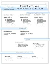 Free Resume Templates For Microsoft Word Download Template Free For