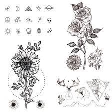 105x6 см сексуальная женская рука подсолнечник маленькая поддельная татуировка
