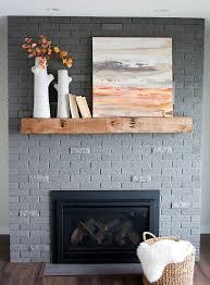 70u0027s Brick Fireplace Makeover Amazing Transformation  Love The New SW Gray Paint Color