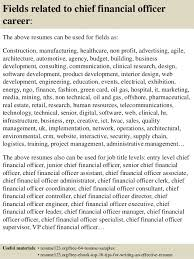 chief financial officer resumes top 8 chief financial officer resume samples