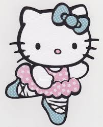 What about coloring this beautiful coloring page with hello kitty and her friends mimmy and fifi going to school? Hello Kitty Ballerina Coloring Pages