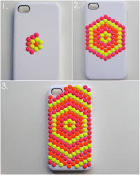 diy neon stud phone case