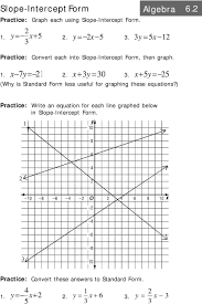 x5y 5 why is standard form less useful for graphing these equations