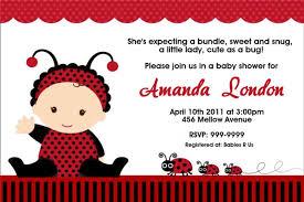 Ladybug Invitations Template Free Baby Shower Invitations Ladybug Baby Shower Invitation