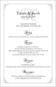 Downloadable Menu Templates Wedding Menu Templates Perfect And Easy Menus For Your Big Day