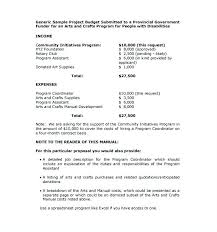 Non Profit Proposal Template Grant Sample For Organization Writing ...