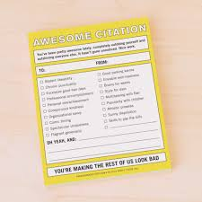 Knock Knock Awesome Citation Nifty Notes Emily Mcdowell Friends