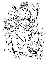 Small Picture Medusa and Poisonous Plant Coloring Page NetArt