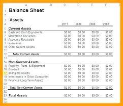 Financial Balance Sheet Template Personal Ce Sheet Template Excel Small Business Personal