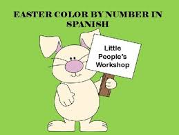 Easter Coloring Pages Spanish By Little Peoples Workshop Tpt