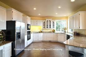 ash wood classic blue glass panel door painting oak kitchen cabinets white pattern tile ceramic sink