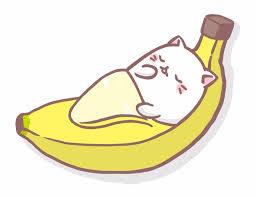 Chat Banane Manga Pinterest Bananes Chats Et Dessin