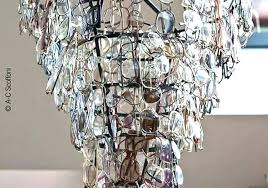 diy crystal chandelier cake stand how to make a homemade crystal chandelier chandeliers old eyeglasses cake