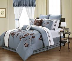 Cheap Blue and Brown Bedding Sets