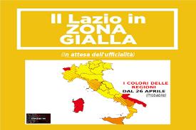 Lazio zona gialla dal 26 aprile: l'ultima volta il 14 marzo scorso
