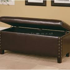 brown storage bench. Plain Bench Add Function And Charm To Your Bedroom With This Coaster Lewis Brown  Nailhead Storage Bench 300378 Intended E