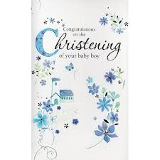 Congratulations On Your Baby Boy Card Congratulations On The Christening Of Your Baby Boy The