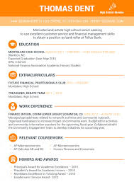 resume examples high school student resume examples for high school student visual ly
