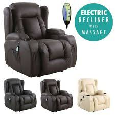 electric recliner chairs for the elderly. CAESAR ELECTRIC LEATHER AUTO RECLINER MASSAGE HEATED GAMING WING SOFA CHAIR Electric Recliner Chairs For The Elderly R