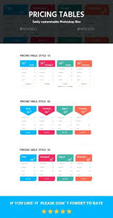 Pricing Table Templates Pricing Tables Template Pricing Tables Template Pricing