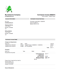 Example Of A Invoice Invoice Details