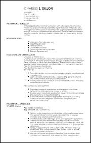Free Entry Level Pest Control Resume Templates Resumenow