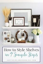 How to Style Shelves in 7 Simple Steps {and My Fall Shelf Decor